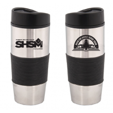 Choice of Black/Blue 500 ML. (17 OZ.) STAINLESS STEEL TRAVEL TUMBLER