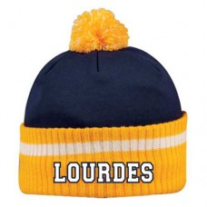 Lourdes Collegiate Striped Pom Pom Toque
